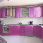 Contoh Kitchen Set Minimalis Warna Ungu