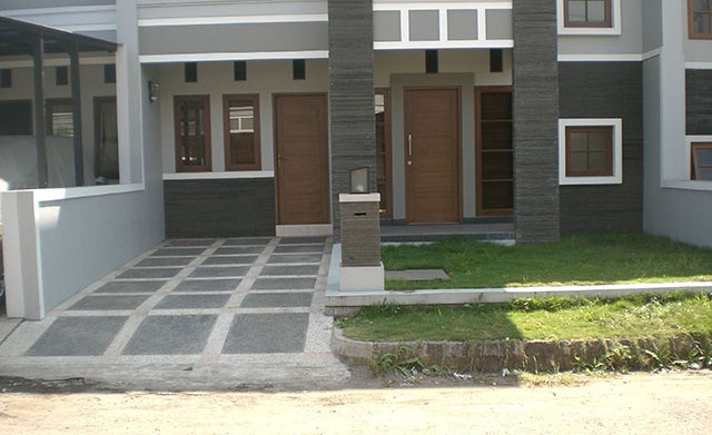 Model Carport Minimalis Batu Alam