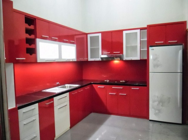 Kitchen Set Aluminium Warna Coklat Dapur