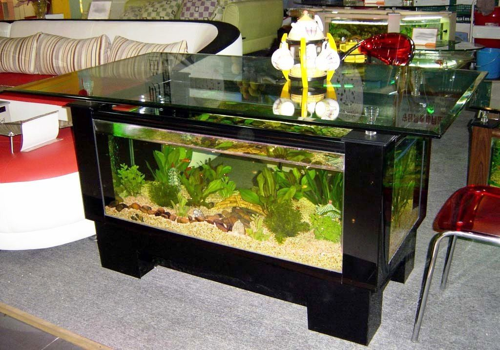 Model Meja Aquarium Ruang Tamu